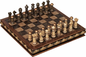 POLYSTONE CHESS SET - GREAT FOR GIFT - 81756 by Benzara