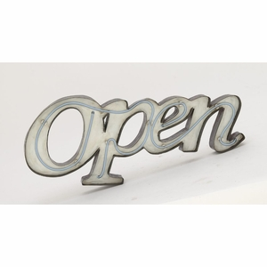 Unique Metal Led Open Sign - 54779 by Benzara
