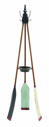 Benzara 56042 Unique Rowing Oar Coat Rack With Multiple