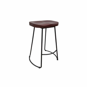 Unique Stool In Wood And Metal Small By Urban Port