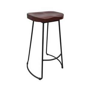 Unique Stool In Wood And Metal Tall By Urban Port