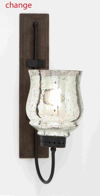 Metal And Wood Candle Sconce With Sturdy Construction - 23807 by Benzara