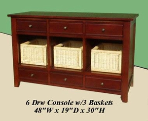 Valpovo Three Basket Console