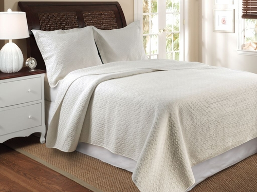greenland home fashions vashon ivory quilt queen bedspread set 3pc - Greenland Home Fashions
