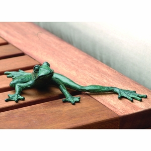 Verdi Colored Shelf Sitter Froggy Longlegs in Cast Iron by SPI-HOME