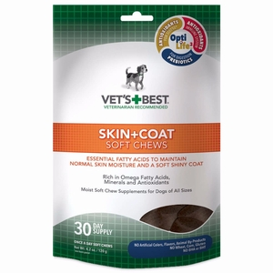 Vet's Best Skin and Coat Dog Soft Chews