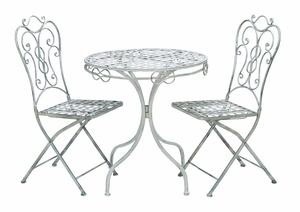 Patio Vintage Themed Outdoor Table And Chair Set - 68792 by Benzara