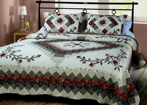 Victorian Treasure Quilt Queen Size  Cotton Bedding Ensembles Brand Elegant decor