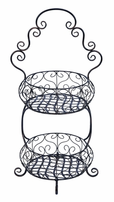 Old Era Two Tier Treat Basket Stand - 68775 by Benzara