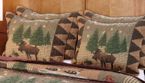 Greenland Home Fashions Vintage Home Collection Moose Lodge Multi Color Standard Sham h