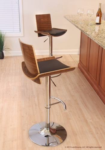Buy Vittorio Bar Stool Walnut Brown Matte Pu By