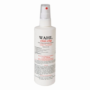"""Wahl Clini Clip Cleaner and Disinfectant 8 ounces White 6"""" x 2"""" x 2"""""""