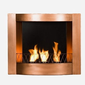 Wall Mount Fireplace - Copper