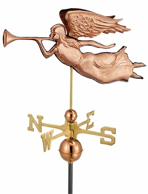 Angel Weathervane - Polished Copper by Good Directions