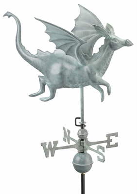 Dragon Weathervane - Blue Verde Copper by Good Directions