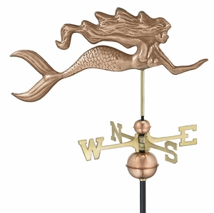 Good Directions Mermaid Weathervane - Polished Copper