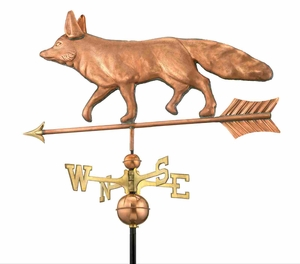 Good Directions Fox Weathervane - Polished Copper