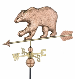 Bear Weathervane - Polished Copper by Good Directions