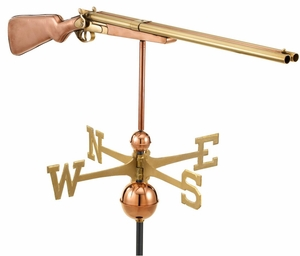 Shotgun Weathervane - Polished Copper by Good Directions