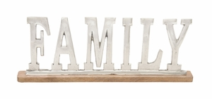 Well-Crafted Metal Wood Family - 37567 by Benzara