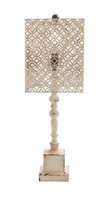 Well Designed Antique Wood Metal Table Lamp - 60130 by Benzara