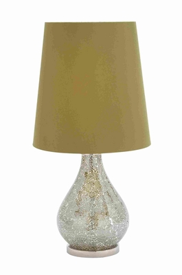 "Well Designed Metal and Glass 25"" Table Lamp with Stunning Finish  - 40157 by Benzara"
