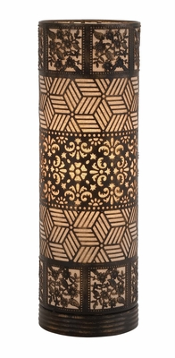 Well Designed Styled Metal Cylinder Table Lamp - 51072 by Benzara