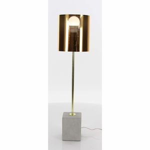 Well-Made Metal Cement Table Lamp - 58692 by Benzara