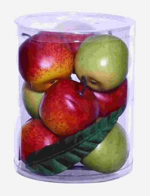 Well Shaped Large Gift Box with Lush Red and Green Apples  - 47752 by Benzara