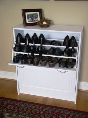 4D Concepts White Classy and Elegant Shoe Cabinet