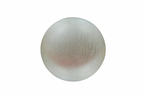 White Crackled Glass Ball with LED Lights - Small by Alpine Corp