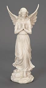 POLYSTONE ANGEL 7 INCHES WIDE BRINGS RELIGIOUS BLEND - 75514 by Benzara