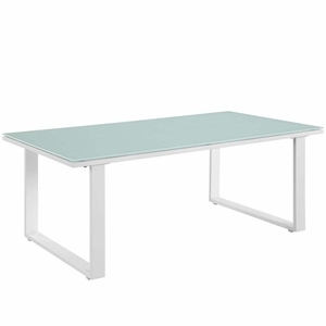 White Fortuna Outdoor Patio Coffee Table