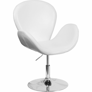 White Leather Reception Chair White - CH-112420-WH-GG by Flash Furniture