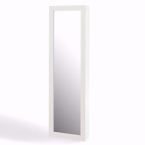 buy white over the door jewelry and makeup full size cabinet mirror at. Black Bedroom Furniture Sets. Home Design Ideas