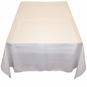 White Polyester Poplin Tablecloth - 60 x 60