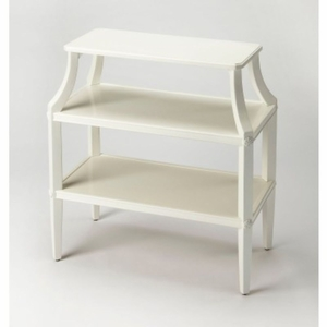 Butler White Tiered Console Table