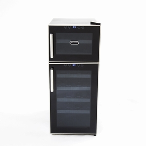 Whynter 21 Bottle Dual Temperature Zone Touch Control Freestanding Wine Cooler