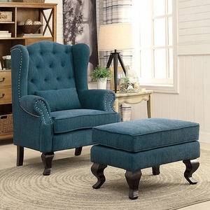 Willow Traditional Leisure Chair With 1Pcs Pillow, Dark Teal Finish