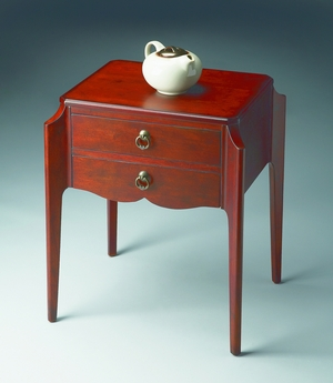 "Wilshire Plantation Cherry Accent Table 22""W by Butler Specialty"