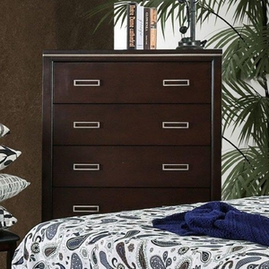 Winnifred Contemporary Style Alluring Chest, Cherry Finish