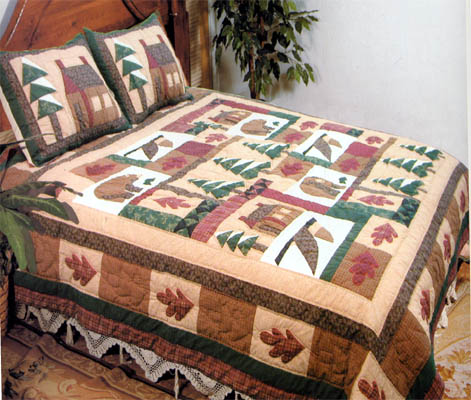 handmade quilts for sale king size buy winter cabin quilt king size 108 inch x 90 inch 9235