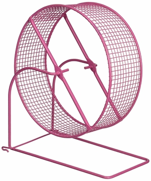 Wire Mesh Hamster/Gerbil Wheel Toy for Small Animals, 8-Inch, Colors Vary