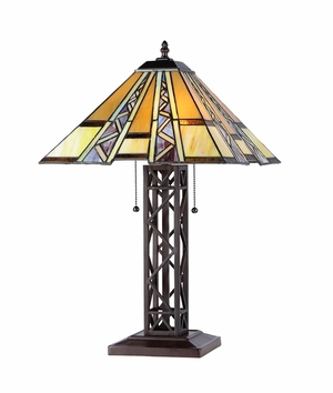 Wonderful Customary Styled Mission Table Lamp by Chloe Lighting
