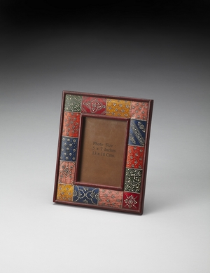 Wonderful Hand Painted 4 X 6 Picture Frame by Butler Specialty