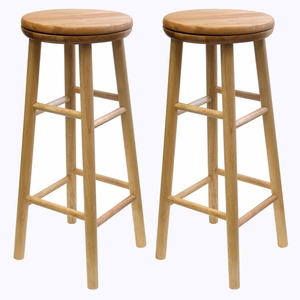 """Wonderful Sets of Two 30"""" Swivel Stool by Winsome Woods"""
