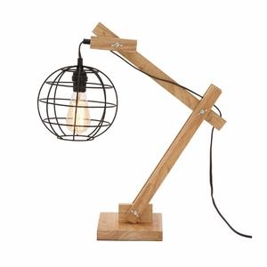 Wonderful Wood Table Lamp with Bulb - 39108 by Benzara