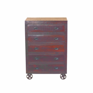 Wonderfully Designed 5 drawer Wood Chest by Yosemite Home decor