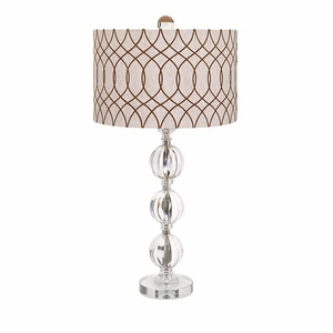 Wonderfully Designed Avena Acrylic and Crystal Table Lamp by IMAX
