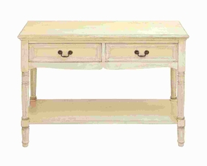 Console with Additional Storage Capability and Brass Handles - 96211 by Benzara